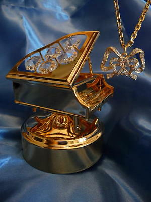 """Grand Piano plays Beethoven's""""Fur Elise"""" & Faberge Lovers Bow Necklace"""