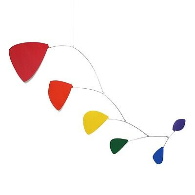 Abstract Modern Pilot Rainbow Hanging Mobile Painted Museum Quality Handmade New