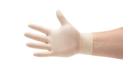 Latex Disposable Gloves Powder Free 4.0 Mil Size: Small, Medium, Large & X-Large