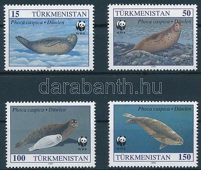 Turkmenistan stamp WWF: Seal values + 4 FDC MNH Cover 1993 WS131148