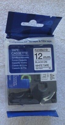 "COMPATIBLE TO Brother TZe-FX231 Label Tape TZEfx231 cable wire 1/2"" NOM FLEXIBLE"