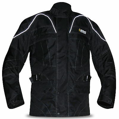 Mens Armoured Motorbike Jacket Cordura Textile Motorcycle Wind Waterproof Racing