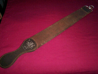 Vintage Wilbert  Straight  Razor Knife Sharpener Two Piece Leather Strop