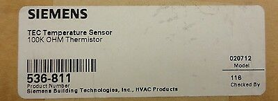 Siemens Tec Temp Sensor 100K OHM Thermistor 536-811 New In Box 536-811
