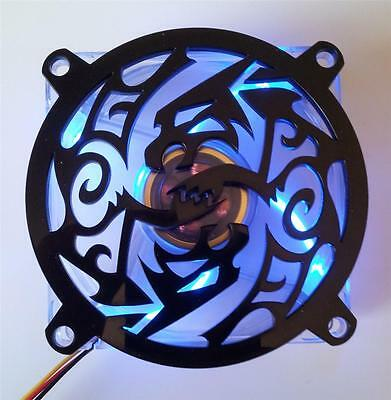 Custom 120mm DROPPING SPIDER Computer Fan Grill Gloss Black Acrylic Cooling Mod