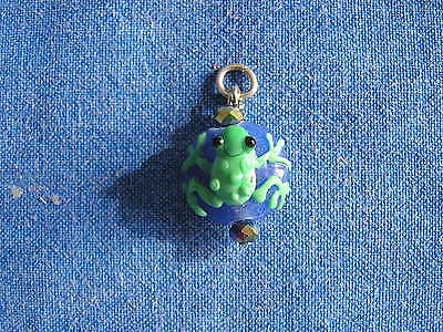 Vintage Hand Blown Lampwork Glass Pendant Terrific Frog For The Frog Collector