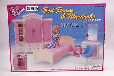 Gloria,Barbie Size Doll House Furniture/(24014) Bed Room & Wardrobe Play Set