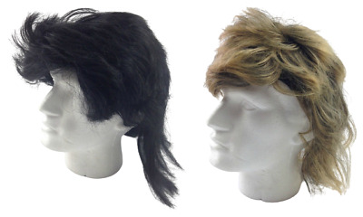 MULLET WIG 80s Fancy Dress Mens Party Costume Rock Bogan Accessory Punk 70s 90s