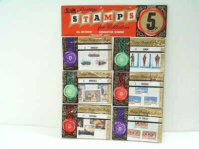 "Vintage 1970s Toy Shop ""C-B"" Complete Stamp Counter  Display A+/A"