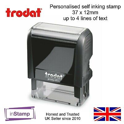 Personalised Business Stamp Address Self Ink Rubber 4911 Name Nhs Nurse Hospital