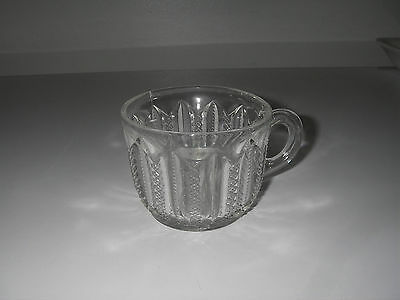 EAPG Duncan & Sons Glass MARDI GRAS AKA Duncan #42 Clear Punch Cup Footed