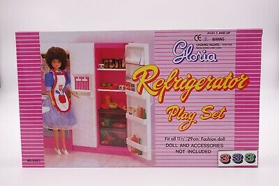 Gloria,Barbie Doll House Furniture/(94017) Refrigerator Play Set