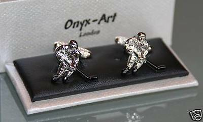 Novelty Cufflinks - Ice Hockey Design