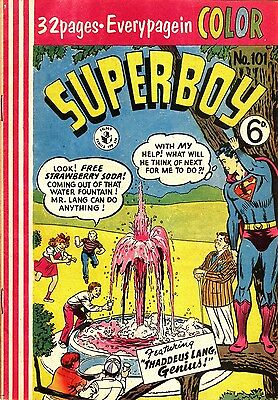 Superboy #101 (1957)  Scarce Australian Silver Age Dc 1St Print Bagged & Boarded