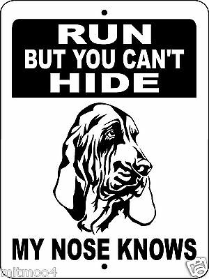 Bloodhound  Aluminum Sign Dog Breed Vinyl Graphics H3304A