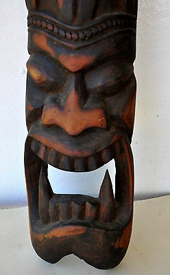 "Rare Old Vampire Qliphoth Demon Mask Sculpture Sitra Achra/Pacific Rim 34"" High"