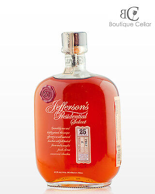 Jefferson's Presidential Select  25 Year Old  Bourbon Whisky 750ml