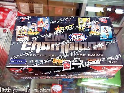 2014 Afl Champions Trading Cards Box 36 Packets Factory Sealed Select New