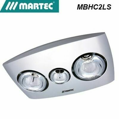 Martec Contour 2 Bathroom Heater Exhaust Fan and Light silver