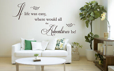 If Life Was Easy Quote Vinyl Wall Art Sticker Decal Bedroom Kitchen, Lounge