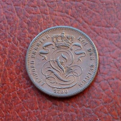 Belgium 1850 copper centime