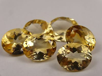 8 x OVAL CUT / FACETED CITRINE, approx 8x10mm (within 0.2mm), 18cts