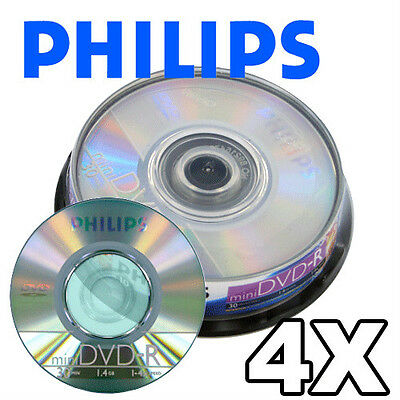 20-pk Philips Mini 4x DVD-R 1.46GB Blank Recordable DVD Disc 4 Digital camcorder