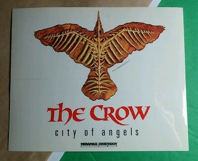The Crow City Of Angels Clear See Through Movie Rare Sticker