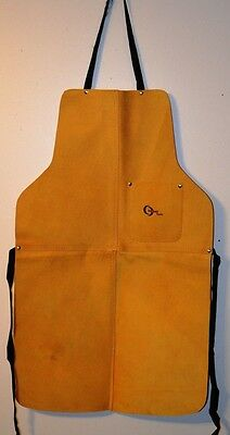 "33"" High Quality, Heavy Duty Split Leather Welding Bib Apron with Pocket - New"