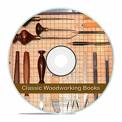 Vintage Wood & WoodWorking Books, Carpentry, Wood Finishing, Carving DVD, V10