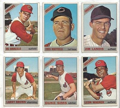 1966 TOPPS CLEVELAND INDIANS LOT OF 14  DIFFERENT