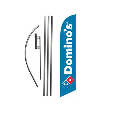 NEW Domino's Pizza 15' Feather Banner Swooper Flag Kit with pole+spike