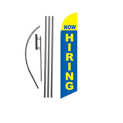 Now Hiring 15' Feather Banner Swooper Flag Kit with pole+spike