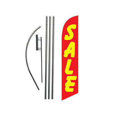 Sale (red/yellow) 15' Feather Banner Swooper Flag Kit with pole+spike