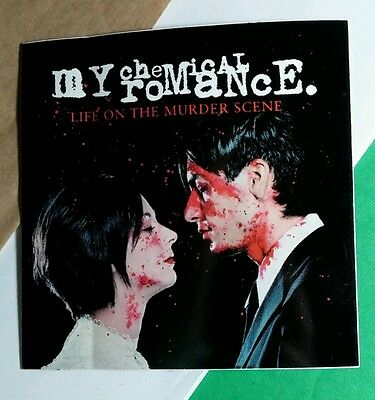My Chemical Romance Life On The Murder Scene Bloody Couple Promo Music Sticker