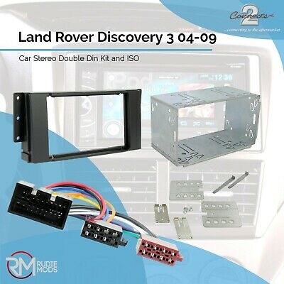 Land Rover Discovery 3 04-09 Car Stereo Double Din Kit and ISO adaptor
