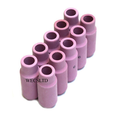 Ceramic Cup Nozzles For WP17, WP26, WP18W Tig Welding Torches x 10