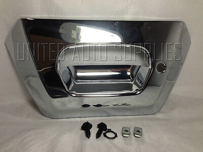 Tailgate BEZEL Rear Back Latch Door Handle ALL CHROME for 02-06 Avalanche