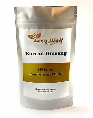 High Quality Korean Ginseng Extract 1300 mg various quantities available
