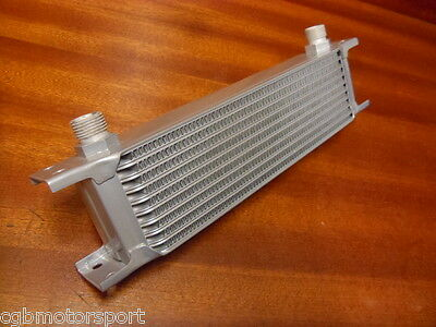 """New Oil Cooler Core 10 Row 235Mm 1/2"""" Bsp Fitting Silver Alloy Radiator"""