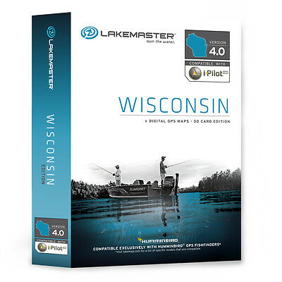LAKEMASTER HB Chart WISCONSIN SD Card Humminbird 600025-1