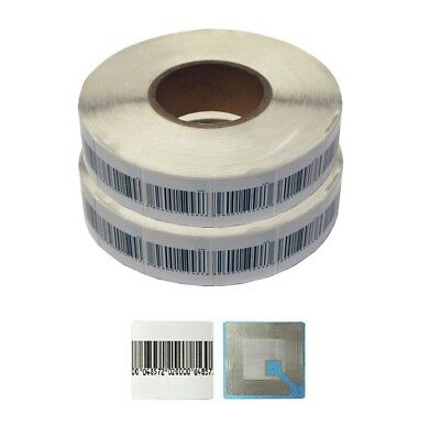 2000 pcs NEW EAS RF 8.2MHz Security Soft Labels Barcode Stickers 40x40mm