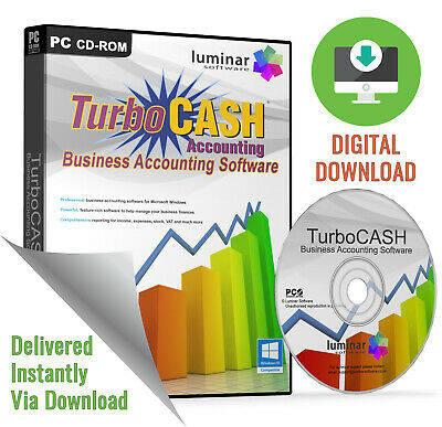 Turbocash Business Accounting Accounts Vat Tax Full Complete Software Program