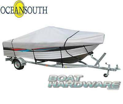 Open BOAT Tinnie Dinghy COVER 3.7to3.9m V Hull Water UV Resistant 280gsm Canvas