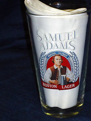 "5.75"" Libbey SAMUEL ADAMS Boston Lager BEER GLASS"
