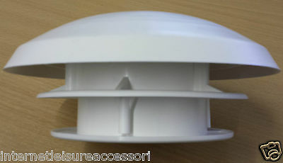 Mushroom Roof Vent with 80mm Hose Connector -  Caravan / Motorhome