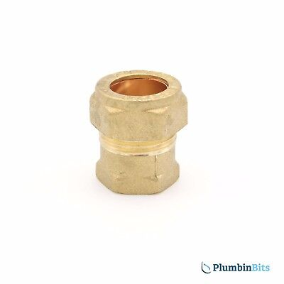 "Compression 15mm Copper to 3/8"" BSP Brass Female Iron Thread Connector Adapter"