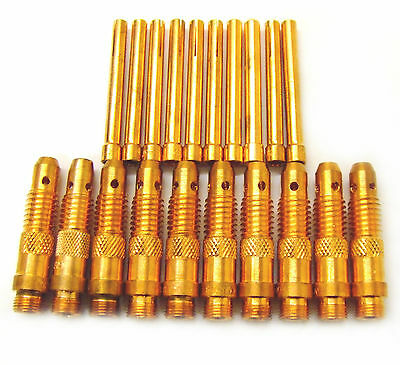 Collets & Collet Bodies for WP17, WP26, WP18W Tig Welding Torches