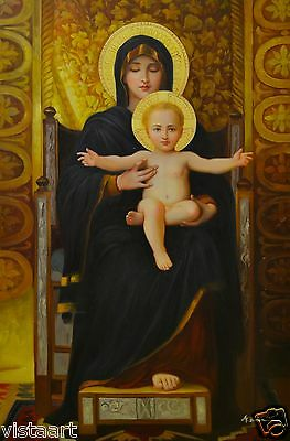 "Oil Painting on Stretched Canvas 24""x36""- Virgin Mother and Child"