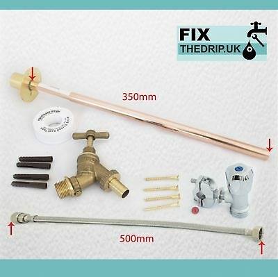 OUTDOOR GARDEN DIY TAP KIT SELF CUT DIY Fit Brass